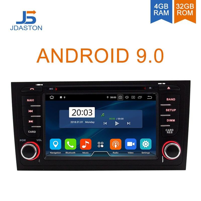 JDASTON Núcleos Octa Android 9.0G + 32 4G DVD Player Do Carro Para AUDI A6 S6 RS6 1997- 2004 GPS Car Multimedia Stereo 2 Rádio Do Carro um Din WI-FI