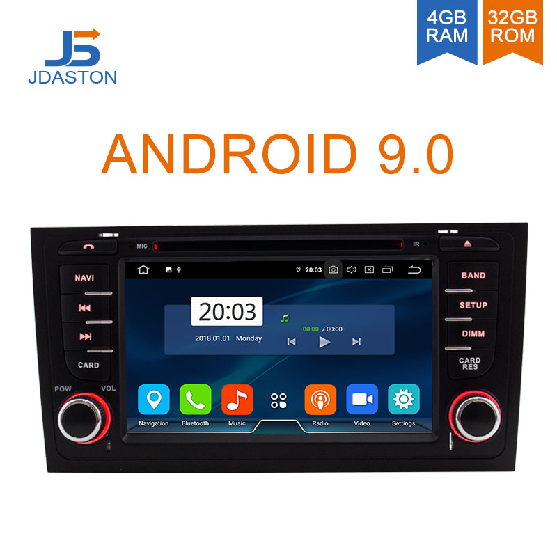 JDASTON Octa Cores Android 9.0 4G+32G Car DVD Player For AUDI A6 S6 RS6 1997 2004 Car Multimedia GPS Stereo 2 Din Car Radio WIFI