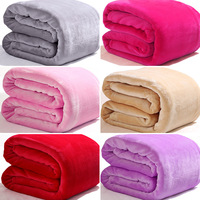 150 200cm 180 200cm 200 230cm 220 240cm Flano Flannel Air Sofa Bedding Solid Color Blanket