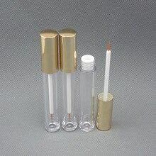 10ps 6ml empty black mascara container bottle tube with brush lipgloss eyeliner make up cream applicator reuse