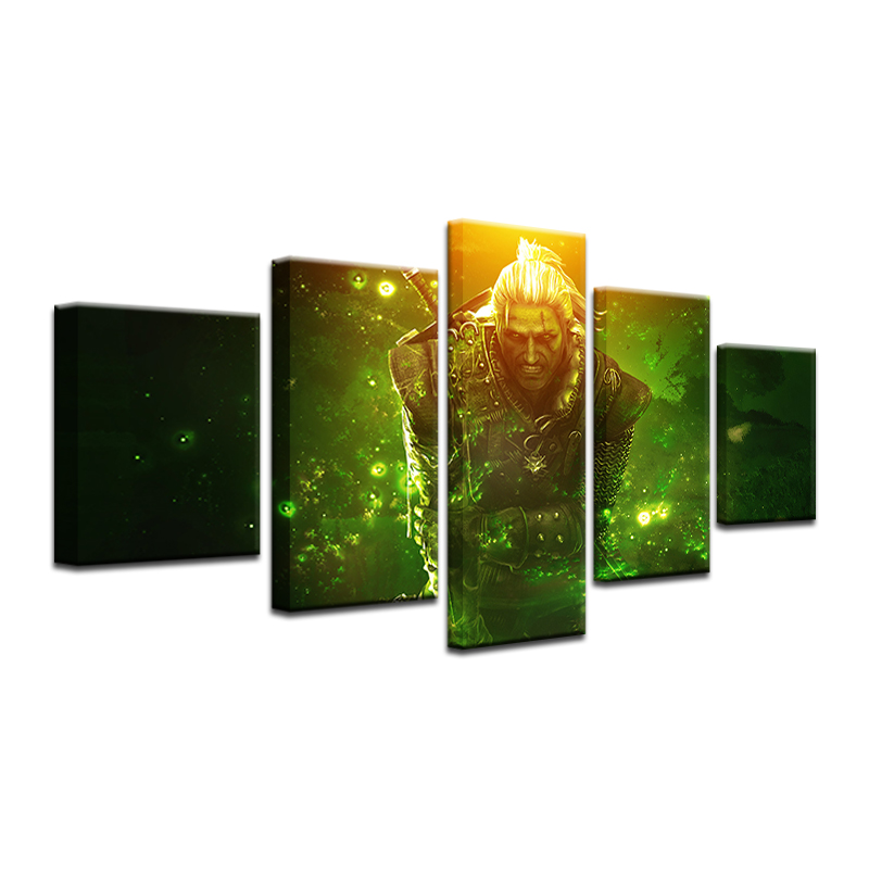 5 Pieces/set Printed Witcher 3 Wild Hunt Canvas Painting Room Decoration Print Poster Picture Printed Painting Frameless 1