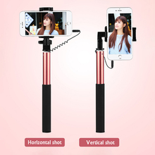 1pc Cell Phone Selfie Stick For Xiaomi For iPhone 6 6s plus Aluminum 3.5mm Mini Phone Stick with Button Palo Selfie Bastone#30