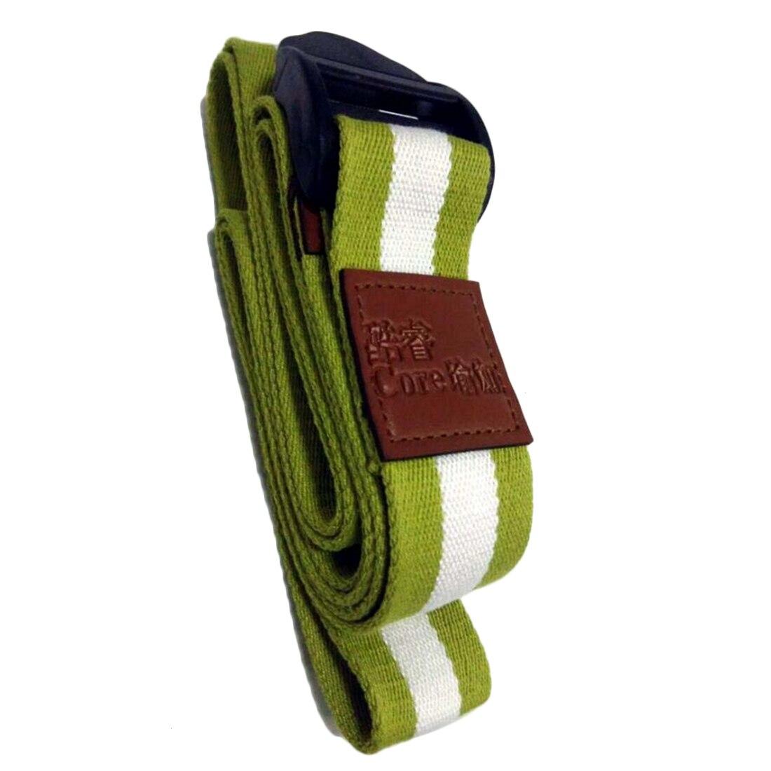 1.8M Cotton Yoga Stretching Stretch Strap Pilates Belt Waist Leg Fitness Exercise Gym - Green