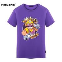 Flevans Super Mario Bros Wario Gedrukt Mannen T-shirt Fashion Cool Heren Hiphop Tshirt Zomer Katoen Casual T-shirt voor mannen