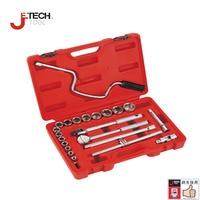 Jetech 22pc inch 1/2 dr. socket set with ratchet mala caixa de ferramentas auto tool kit for the car ifixit car audio tools