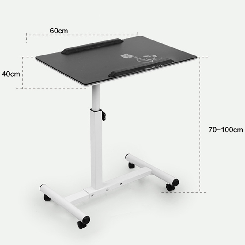 Movable Mini Laptop Table Portable Simple Computer Desk Stand For Bed Sofa Study Office Angle And Height Adjule Black White In Desks From