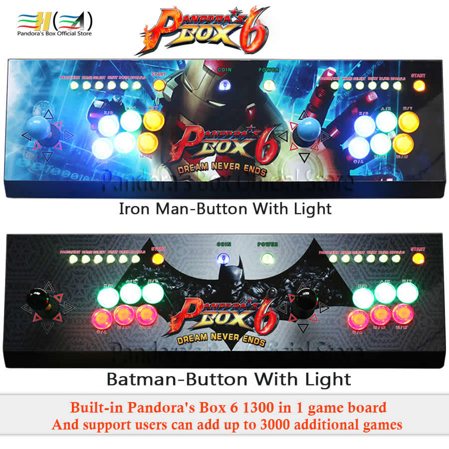 2 Players Pandoras Box 6 console 1300 in 1 arcade game joystick button usb joystick for pc support fba mame ps1 games tekken 3d2 Players Pandoras Box 6 console 1300 in 1 arcade game joystick button usb joystick for pc support fba mame ps1 games tekken 3d