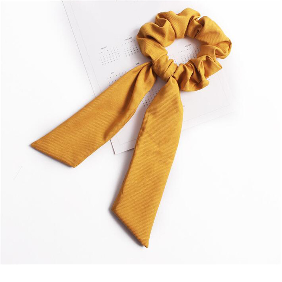 Богемные резинки для волос в горошек с цветочным принтом и бантом, женские эластичные резинки для волос, повязка-шарф, резинки для волос, аксессуары для волос для девочек - Цвет: A6