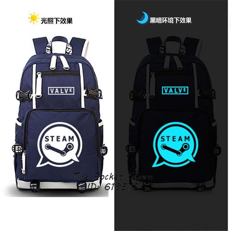 Hot Game Valve Steam Printing Military Backpack Men Backpack Canvas Laptop Backpack School Bags Unisex Travel Bags