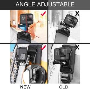 Image 4 - Mise à jour Sport caméra sac à dos pince montage 360 degrés rotatif pour Xiaomi Yi pour Gopro Hero 8 7 6 5 4 Action caméra accessoires
