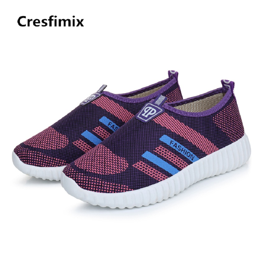 Cresfimix women casual spring and summer slip on shoes lady cute vulcanize shoes female low flat cloth shoes zapatos de mujer cresfimix women cute spring
