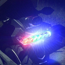 Motorcycle refitted LED taillights flashlamp decorative license plate lamp anti-chasing