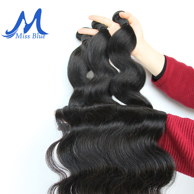 Extensiones de Cabello peruano Missblue, extensiones de cabello humano 100%, paquete de 30 32 34 36 38 40 pulgadas, extensiones de cabello Remy de Color Natural