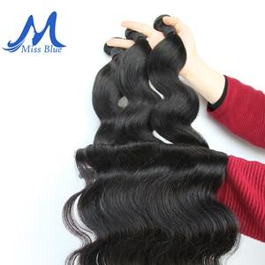 Image 3 - Missblue Peruvian Body Wave Hair Weave Bundles 100% Human Hair Bundles 30 32 34 36 38 40 Inch Natural Color Remy Hair Extensions