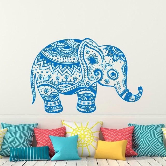 Aliexpress Buy Elephant Wall Sticker Indian Buddha Mandala