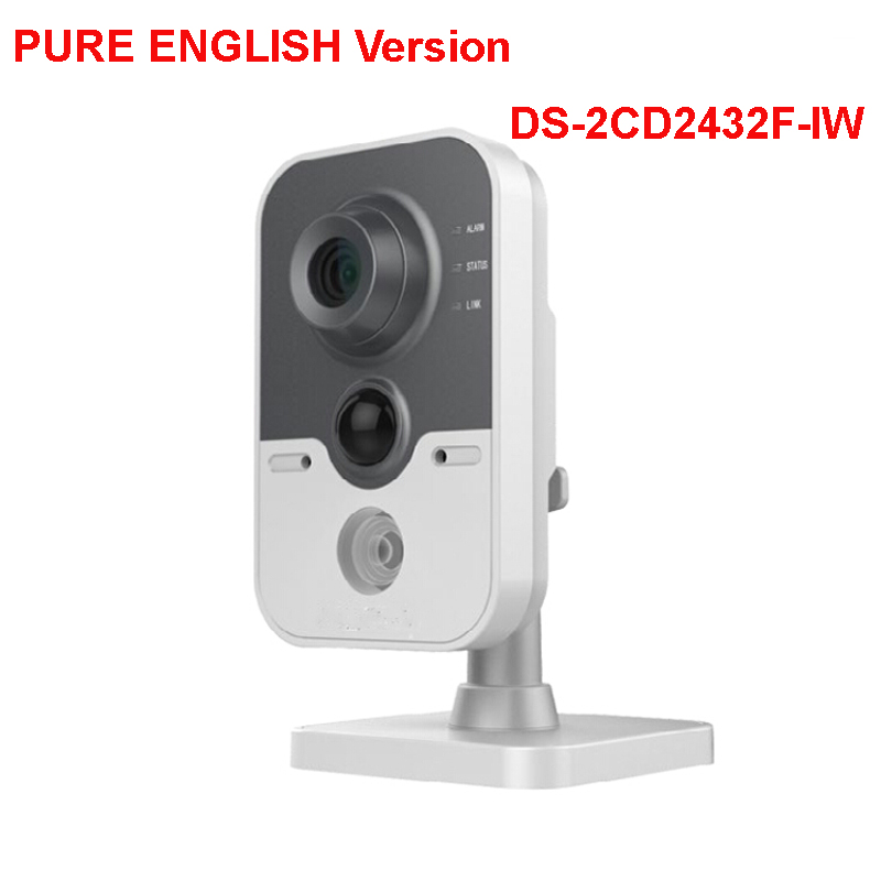 Hik English version DS-2CD2432F-IW 3MP Fixed IR Cube ip camera With Wifi Audio POE wireless security camera cd диск fleetwood mac rumours 2 cd