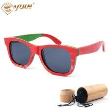 Classic Brand Designer Wood Sunglasses 2017 New Polarized Skateboard Wood Sun Glasses Retro Vintage Eyewear W3008