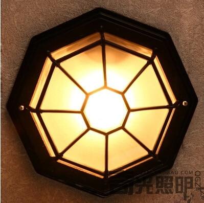 110V 220V waterproof vintage bathroom ceiling light moistureproof Ceiling Light Balcony outdoor lamp LED Bulb Include