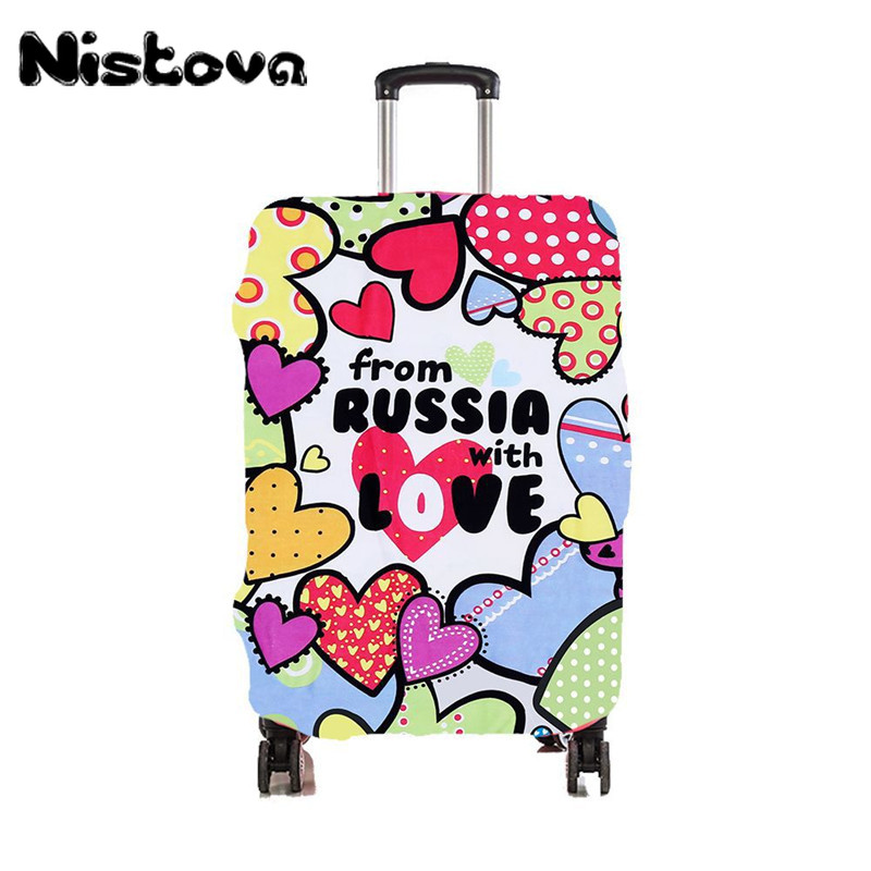 Fashion Suitcase Cover For Traveling Stretch Elastic Luggage Dust Cover Travel Accessories Apply To 18''-28'' Case For Suitcase