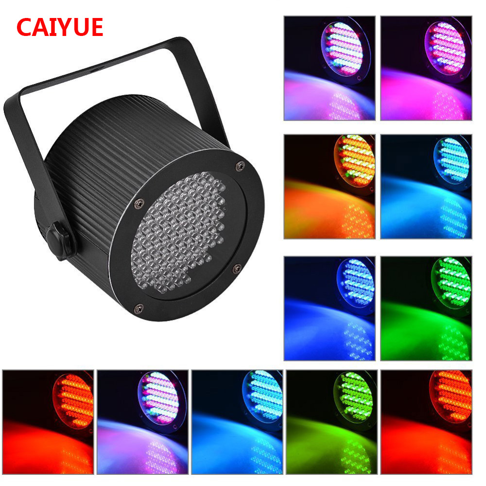 Portable 86 RGB LED Stage Lights Par Party Show DMX-512 Lighting effect Disco Spotlight Projector for Wedding Party Bar Club DJ 3w rgb led dj stage light auto rotating projector disco club ball lamp party show dmx lighting effect battery powered page 6