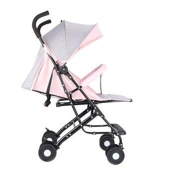 Baby Stroller Can Sit Reclining Ultra Light Portable Folding Infant Umbrella Four Wheel Children Pocket Trolley Bearing 15kg