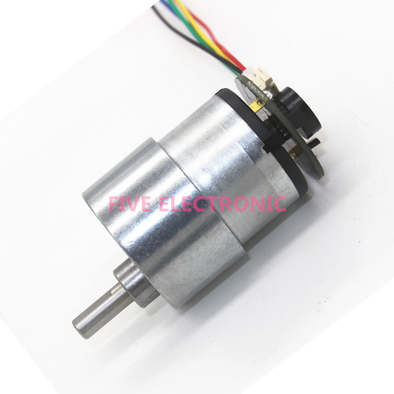 6V JGB37-520 DC Gear Motor with coder/speed measurement Metal Gear Large torque Long-life. use for Self-balancing car/DIY models