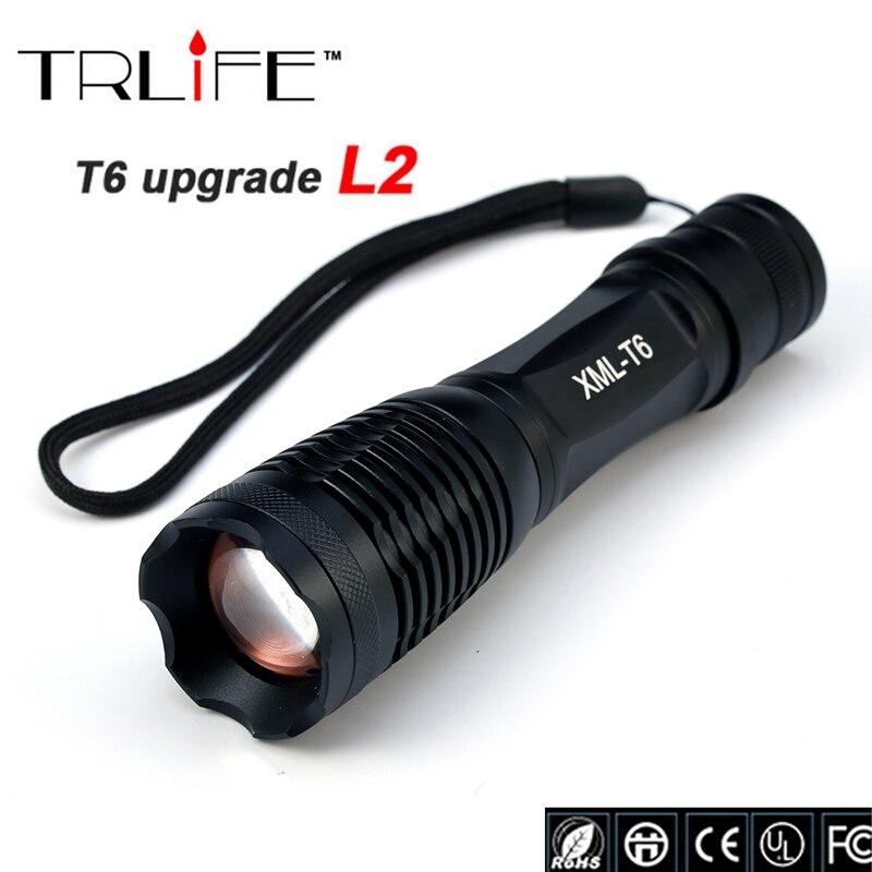 LED CREE XM-L2/T6 6000 Lumen X900 Torcia Della Torcia Elettrica Zoomable Campeggio Flash Light Lampada di Illuminazione per Esterni Per 3 xAAA o 1x18650