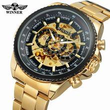 Новинка,, Winner, 0352, мужские часы, военные, спортивные часы, мужские, Топ бренд, роскошные часы скелетоны, автоматические, механические, стальные, мужские часы