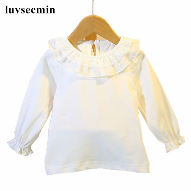 f749acf5 Spring Autumn Cotton White Ruffles Long Sleeve Kids Baby Toddler Blouse  Girls Tops And Blouses Little Girls Blouse Shirt JW0330-in Blouses & Shirts  from ...