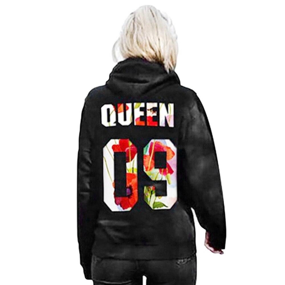 73d3c5ff198 2018 New Lovers Hoodies Sweatshirts QUEEN KING 09 Printed Tops Women Men  Black Pullover Hooded Long Sleeve Couples Outwear Sale-in Hoodies    Sweatshirts ...