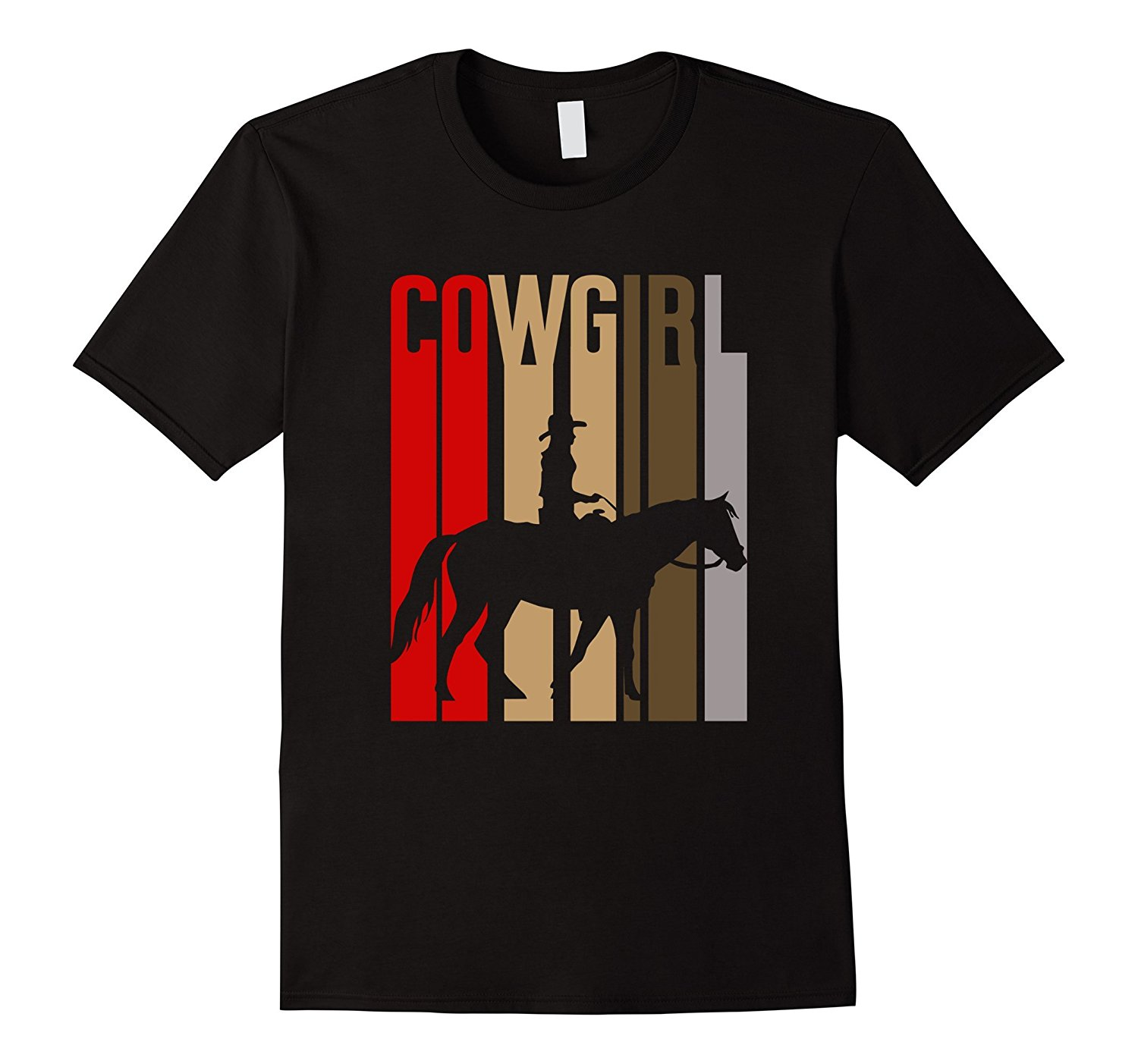 Retro Cowgirl Western T-Shirt with Horse Rider Summer Short Sleeve Shirts Tops S~3Xl Big Size Cotton Tees Summer New Men Cotton