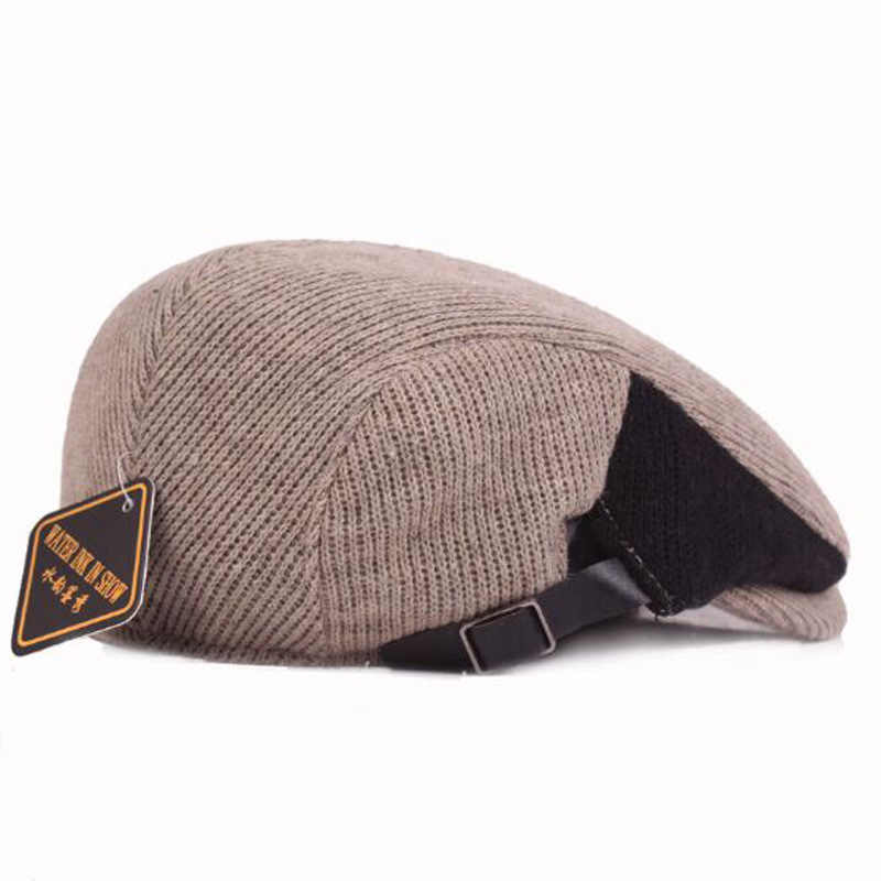 afc2310bf35 ... 2017 New Patchwork Color Beret Boina Hats for Men Winter Berets Good  Quality Cotton Flat Caps ...