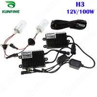 12V/100W Xenon Headlight H3 HID Conversion xenon Kit Car HID light with AC ballast For Vehicle Headlight