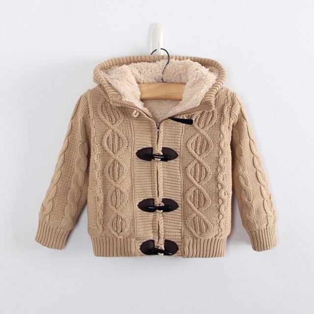 429578de1 baby boy winter coat 2018 new baby boy winter sweater solid thcken ...