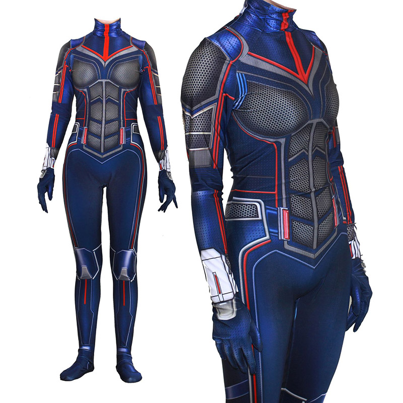 Adult Lycra Ant-Man and The Wasp 3D Print Jumpsuit Zentai Costume Cosplay for Woman Halloween Party Costumes