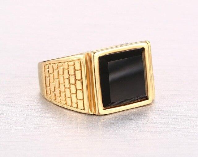Высокое качество мужское кольцо модные золотые кольца из нержавеющей