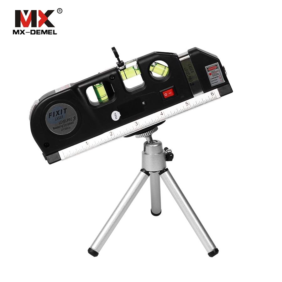 MX-DEMEL Laser Ebene Vertikale Messen Linie Band Eingestellt Multifunktionale Standard Herrscher Horizontale Laser Instrument Laser Ebene