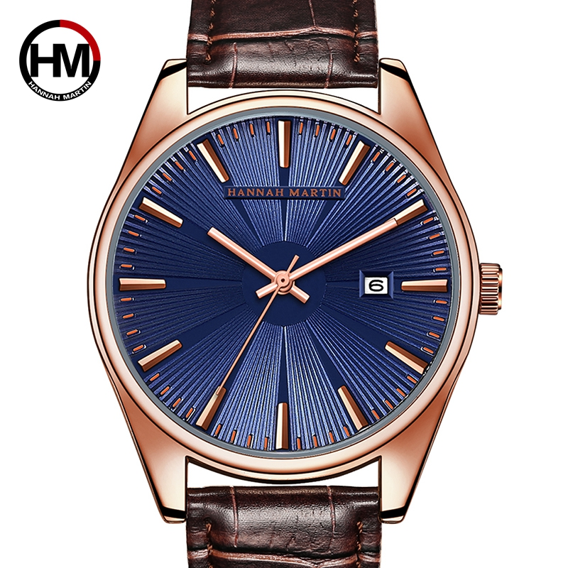 Dropshipping High Quality Sun Pattern Radial Dial Watch Men Leather Waterproof Wristwatch Top Brand Luxury Watch With Calendar Dropshipping High Quality Sun Pattern Radial Dial Watch Men Leather Waterproof Wristwatch Top Brand Luxury Watch With Calendar