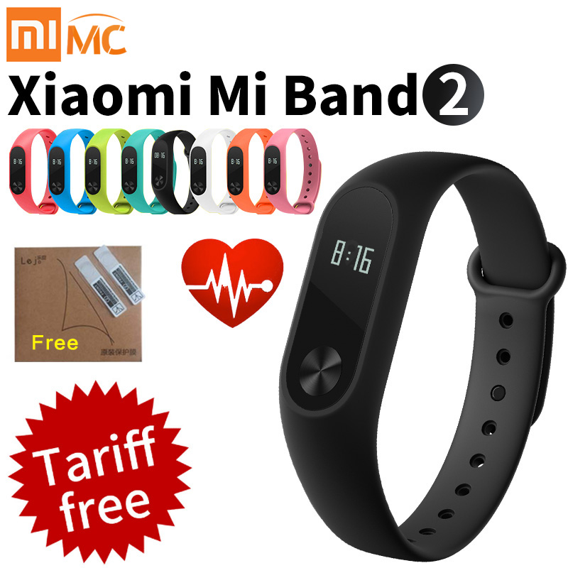 Original Xiao mi mi Band 2 Smart Fitness Armband Uhr Armband mi band OLED Touchpad Schlaf Monitor Herz Rate mi band2 Freeship