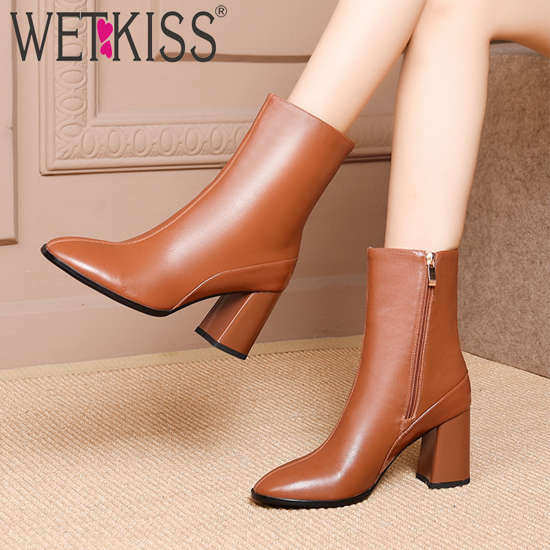 c318ccba5a WETKISS-Bureau-pais-Haute-Talons-Femmes-Bottines-Bout-Carr-Zip-Chaussures-En-Cuir-V-ritable-Femelle.jpg