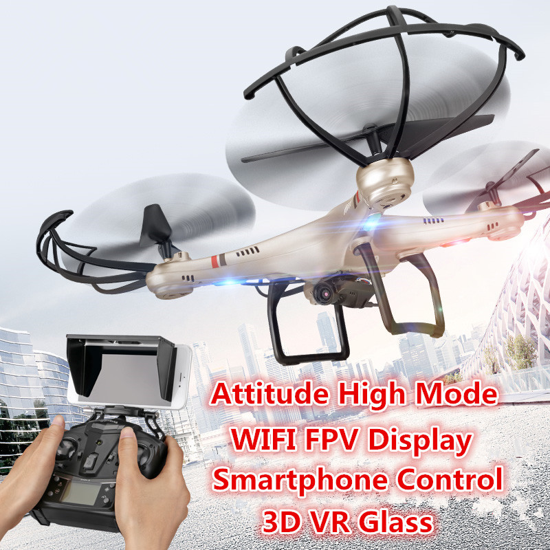 Newest rc drone I350HW WIFI FPV 3D VR glass drone With HD Camera 2.4G 4CH 6Axis Altitude Hold RC Quadcopter vs U919A X5UW newest apple shape foldable wifi fpv rc drone rc130 2 4g apple quadcopter with 6axis gryo with 720p wifi hd camera rc drones