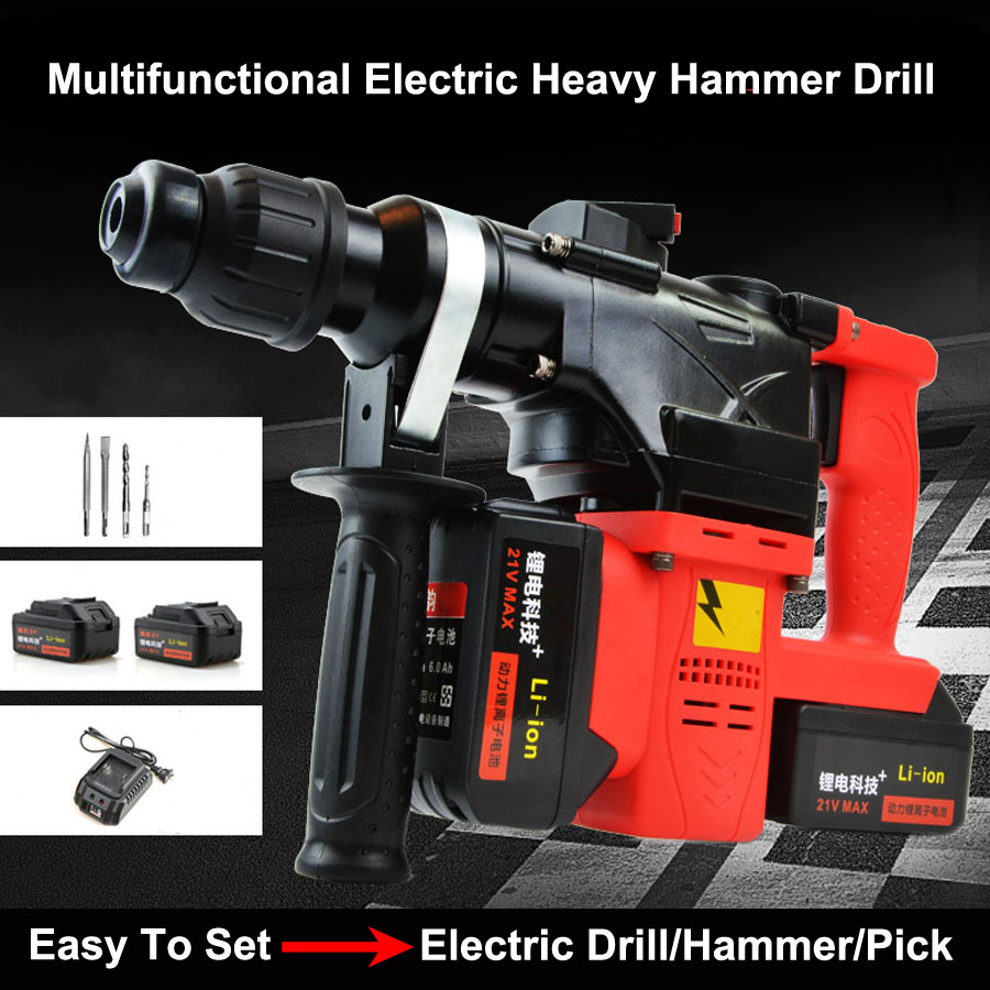 HTB1DNgdX8USMeJjSszcq6znwVXaf - 15000 25000mAh Heavy Industrial Wall Hammer Cordless Drill Rechargeable Samsung Lithium Battery Electric Hammer Impact Drill