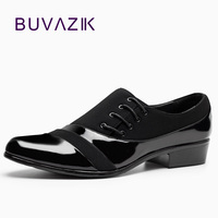 2016 Fashion British Style Men Oxfords Shoes Men S Casual Black Shoes Pointed Toe Flats