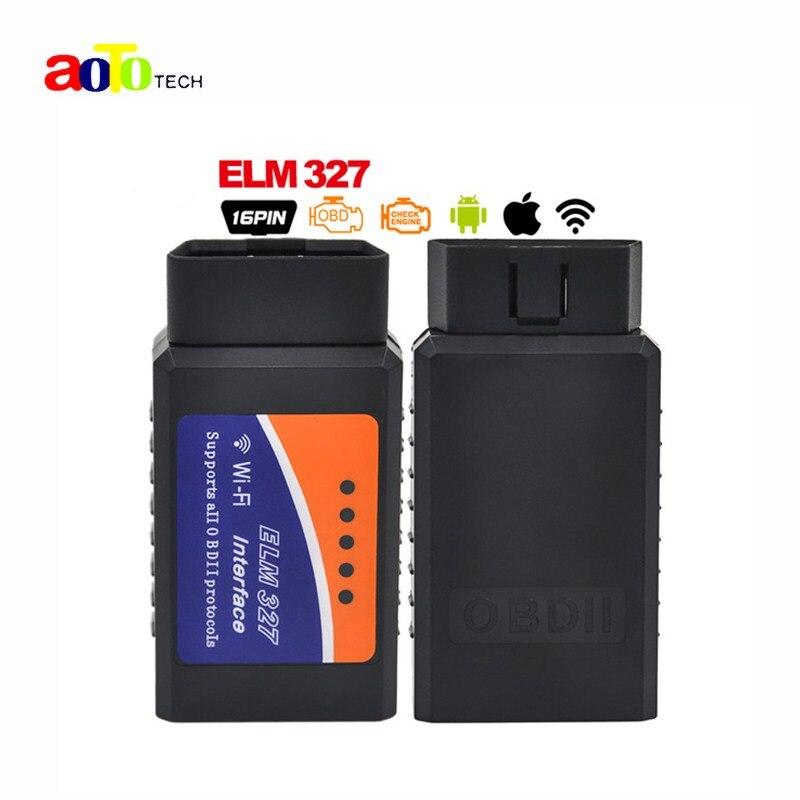 Nouvelle Auto OBDII Lecteur de Code V1.5 ELM327 WIFI Sans Fil Prend En Charge tous les Protocoles OBD2 wifi elm 327 pour pour iPhone iPad iPod