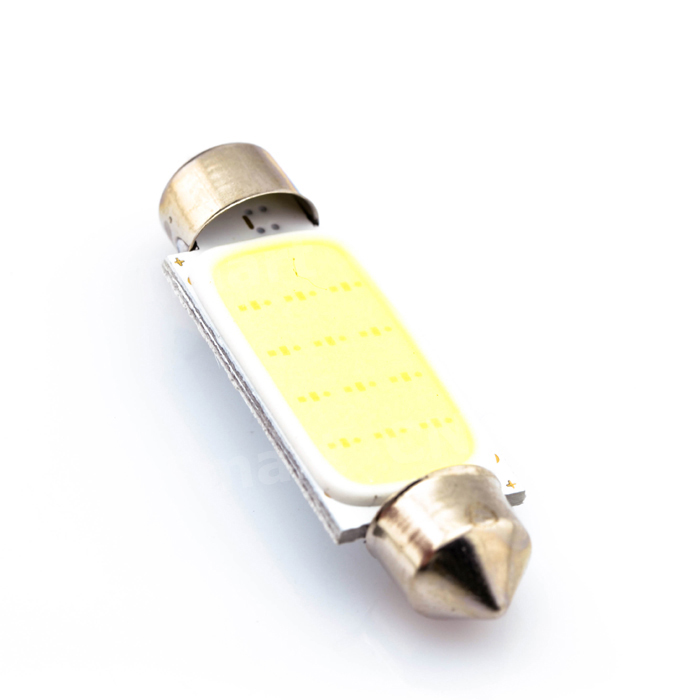 1pcs White 41MM 12 Chips COB C5W Car Auto Festoon Dome Interior LED Lights Lamp Map Roof Reading Bulb DC12V wholesale white 12 led chips cob 2w car auto festoon dome interior led lights lamp reading bulb dc12v icarmo