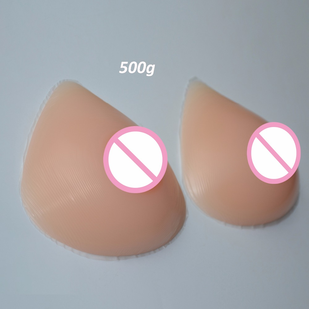 New One Pair S/M/L/XL Atificial Silicone Breast Forms Triangle Shape False Fake Boobs Enhancer Chest Prothesis For Mastectomy