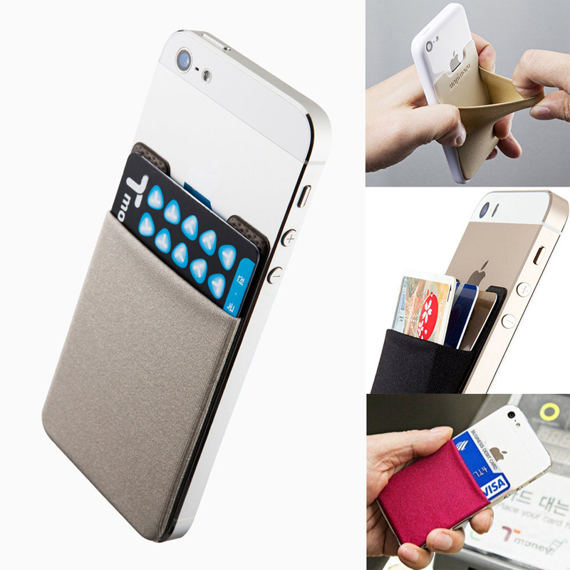 Card Holder Creative Credit Card Holder Stick On Phone 6S 6 Elastic ...
