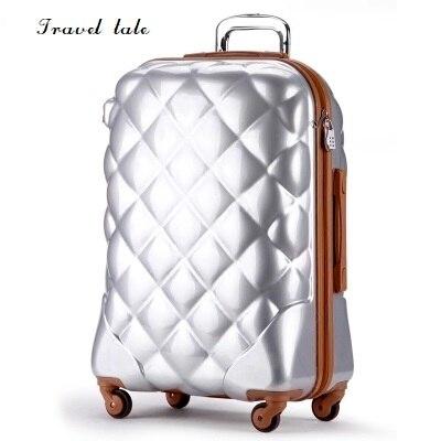 Conte de voyage mode 3D grille 20/24/28 pouces taille PC bagage roulant valise de voyage marque SpinnerConte de voyage mode 3D grille 20/24/28 pouces taille PC bagage roulant valise de voyage marque Spinner