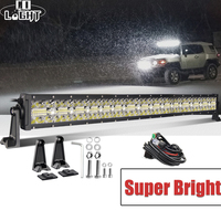 Со светом 7D 3 ряда светодиодный свет бар 32
