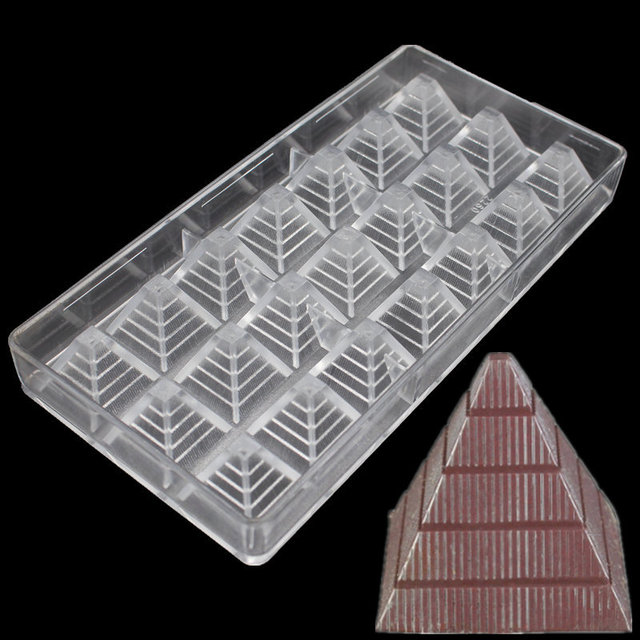 food grade pyramid shaped clear polycarbonate chocolate mold diy chocolate pc mold chocolate tools pastry tools